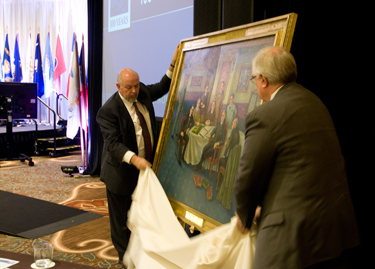 NBME and ECFMG Present Gift Portrait of FSMB Founding